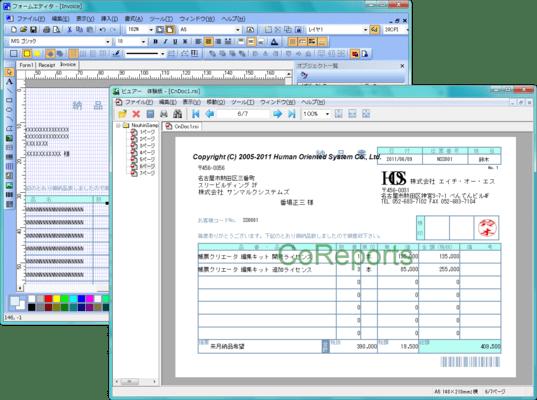 シーオーリポーツ for Java Ver.2(日本語版) のスクリーンショット