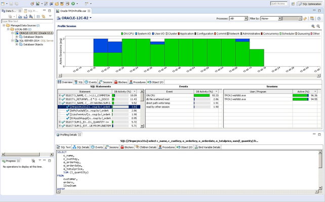 DB Optimizer for Sybase 스크린샷