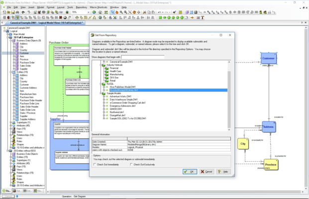 Screenshot of ER/Studio Data Architect for SAP ASE