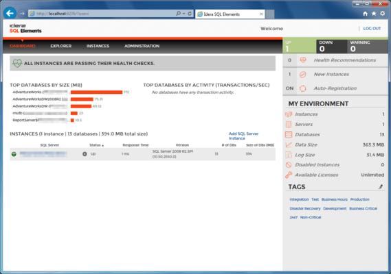 SQL Inventory Manager (英語版) のスクリーンショット