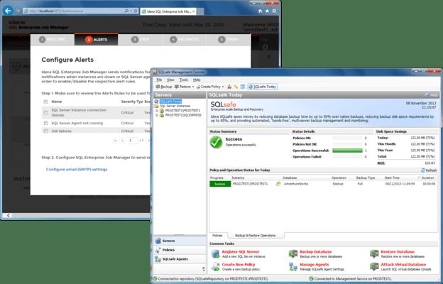 SQL Maintenance Suite (英語版) のスクリーンショット