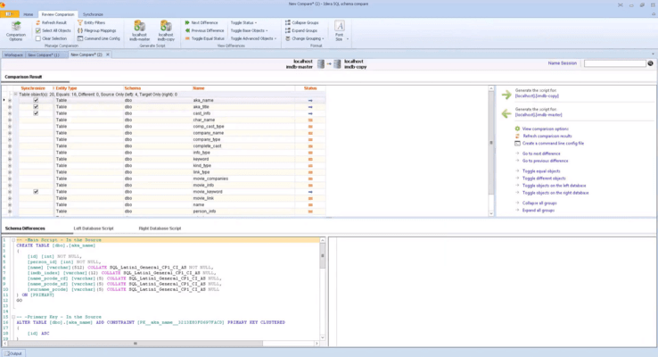 SQL Comparison Toolset (英語版) のスクリーンショット
