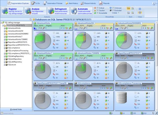 SQL Defrag Manager 스크린샷