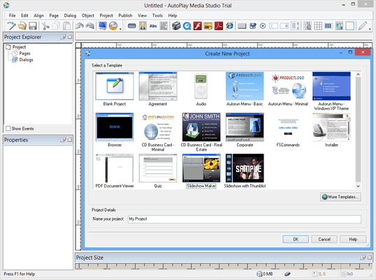 Screenshot of AutoPlay Media Studio