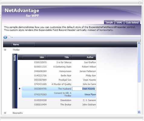 Screenshot of Infragistics NetAdvantage for .NET + WPF