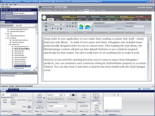 Screenshot von Infragistics NetAdvantage Select
