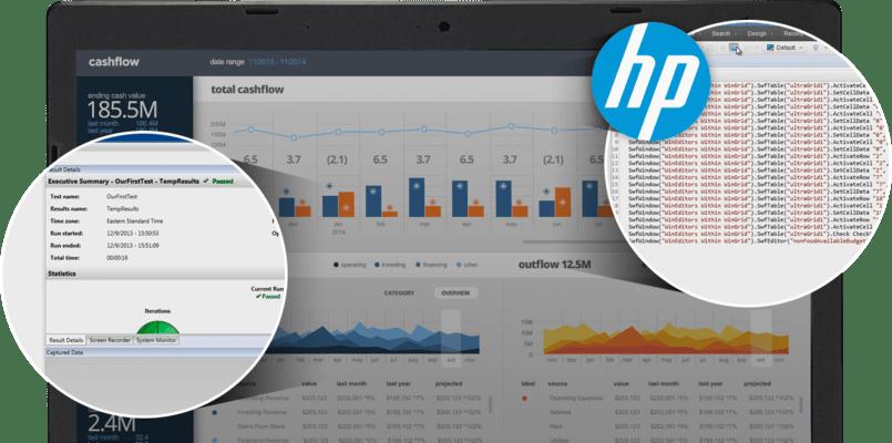 Infragistics Windows Forms Test Automation for HP(英語版) のスクリーンショット
