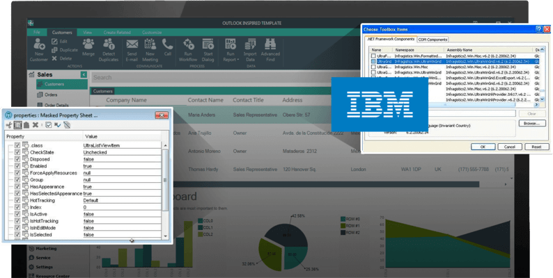 Capture d'écran de Infragistics Windows Forms Test Automation for IBM