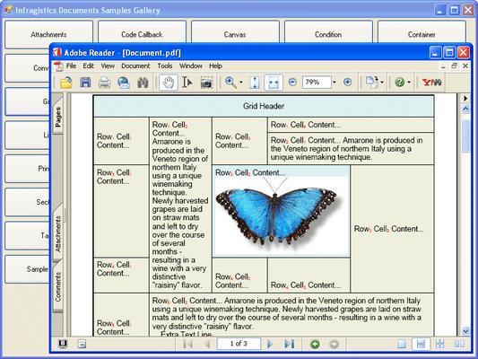 Infragistics WinGridDocumentExporter のスクリーンショット