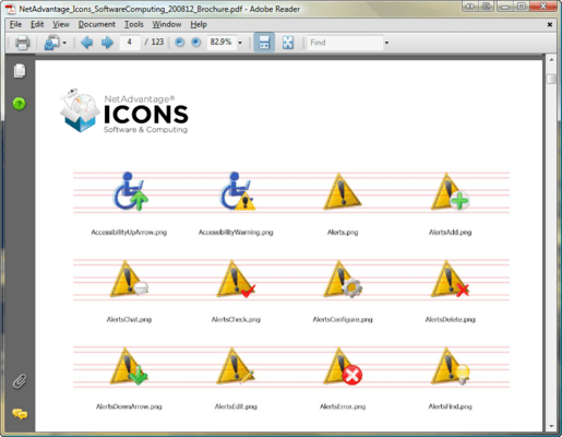 Screenshot of NetAdvantage ICONS Software & Computing Pack