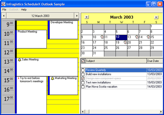 Screenshot of ScheduleX