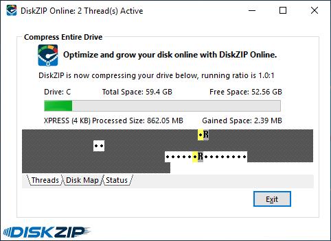 InstallAware DiskZIP(英語版) のスクリーンショット