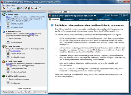 Captura de tela do Intel Parallel Studio XE Composer Edition for C++ Mac OS X