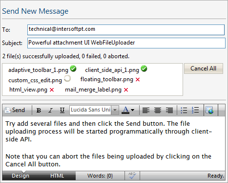 Screenshot of WebFileUploader