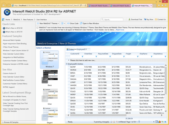 Screenshot of WebGrid Enterprise