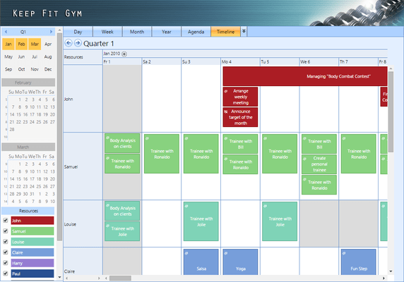 Screenshot of WebScheduler