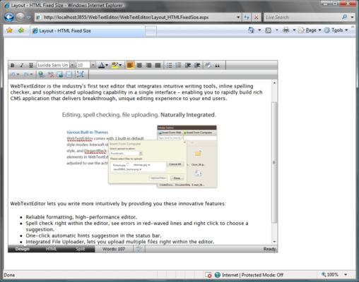 Screenshot of WebTextEditor