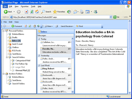 Screenshot of WebTreeView