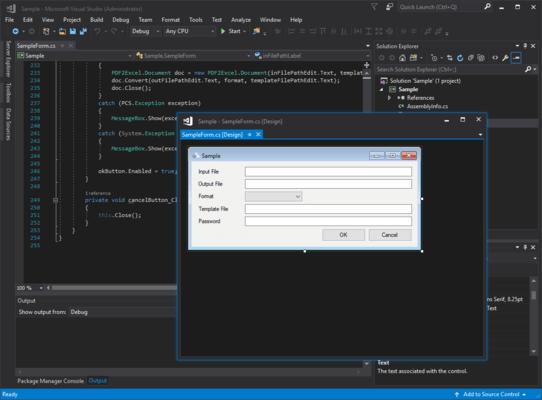 PDF to Excel SDK(英語版) のスクリーンショット