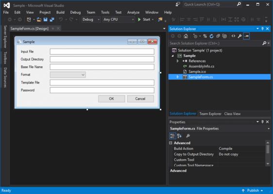 Screenshot of PDF to Image SDK