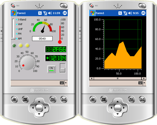 Screenshot of Iocomp .NET CF Ultra Pack