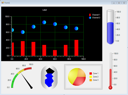 Iocomp .NET WinForms Ultra Pack のスクリーンショット
