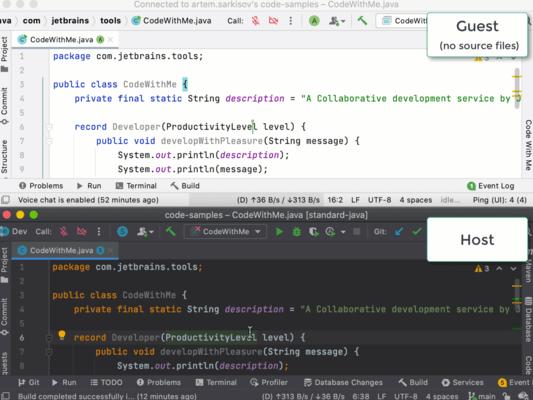 Schermata di Code With Me