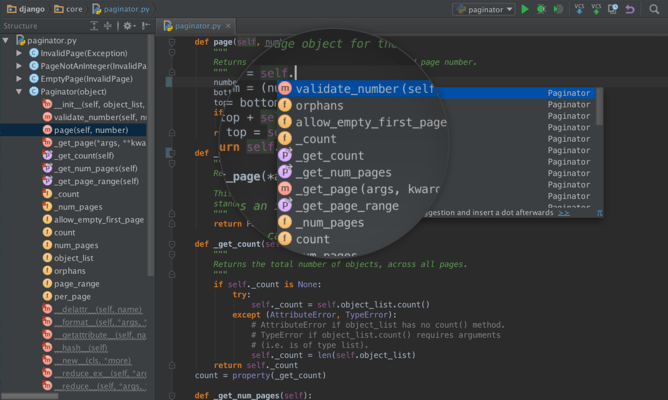 Screenshot of PyCharm