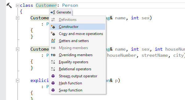 Capture d'écran de ReSharper C++