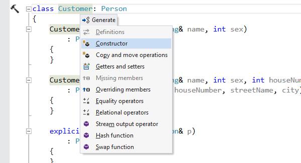 ReSharper C++ 的螢幕截圖