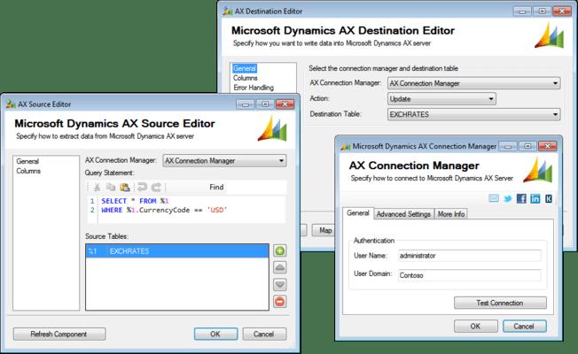SSIS Integration Toolkit for Microsoft Dynamics AX のスクリーンショット