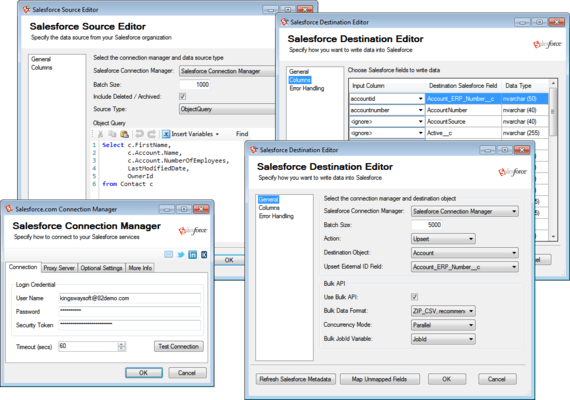SSIS Integration Toolkit for Salesforce のスクリーンショット