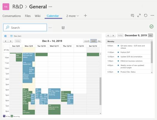 Screenshot of KWizCom Calendar Plus App (SPFx)