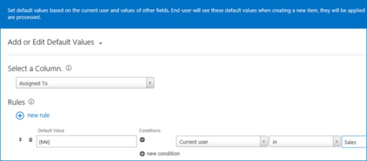 KWizCom Default Values App (Office 365) のスクリーンショット