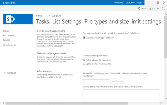 Screenshot of KWizCom File Controller Feature