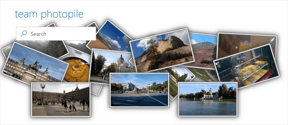 Screenshot of KWizCom Picture Gallery App (SPFx)