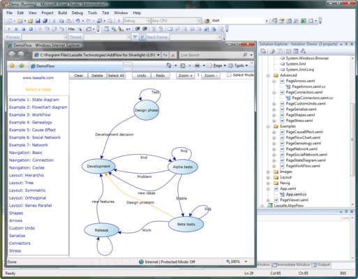 Screenshot of AddFlow for Silverlight Standard