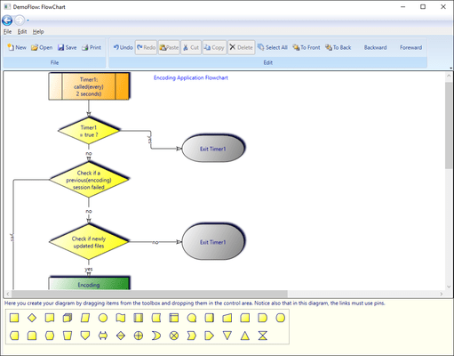 Screenshot of AddFlow for WPF Professional