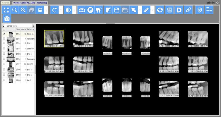 Schermata di LEADTOOLS Dental Display Module