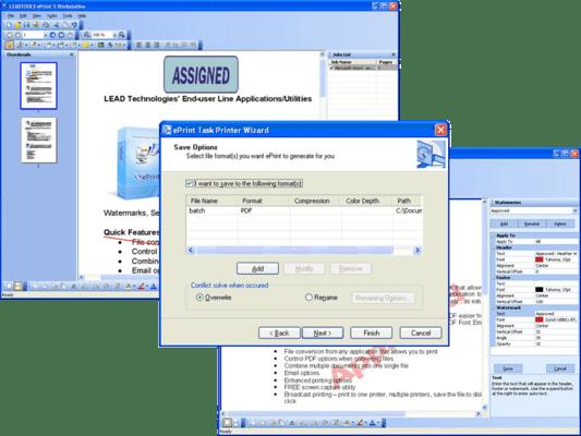 Screenshot of LEADTOOLS ePrint Professional