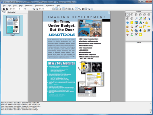 Screenshot of LEADTOOLS PDF Pro