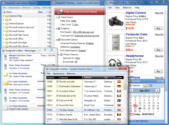 Screenshot of IntegralUI Studio