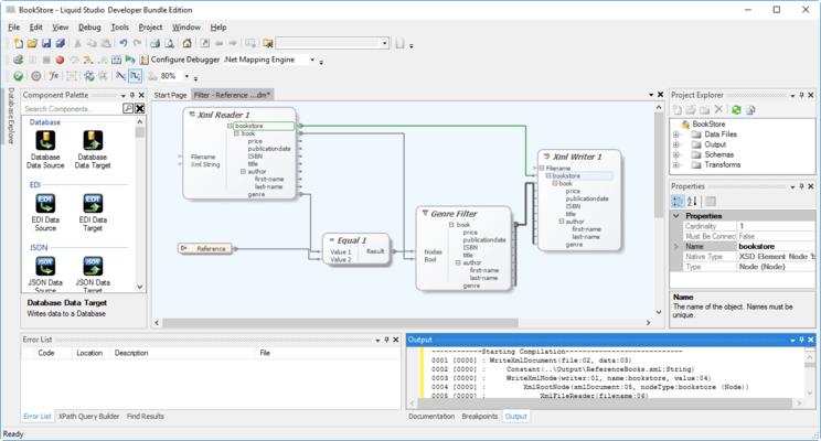 Screenshot of Liquid Studio Data Designer Edition