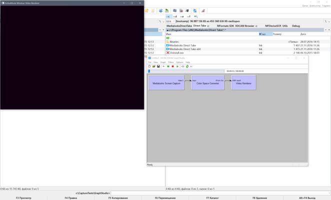 Screenshot of MediaLooks Screen Capture DirectShow Filter