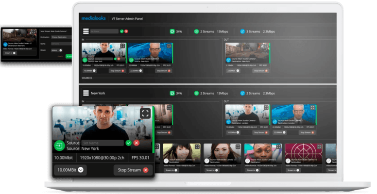 Screenshot of Medialooks Video Transport
