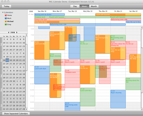 Screenshot of MiG Calendar