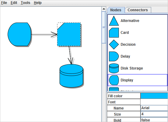Screenshot von MindFusion.Diagramming for Java Swing