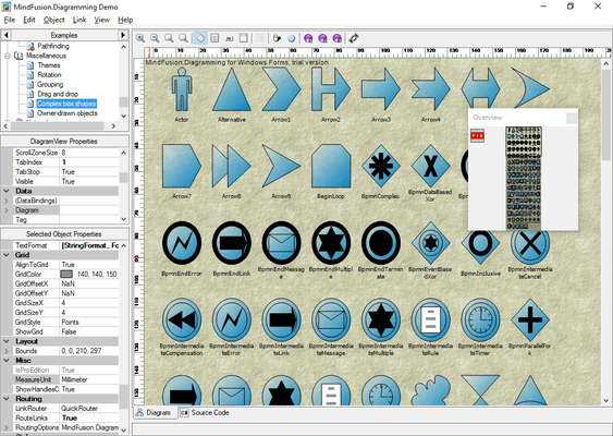 Screenshot of MindFusion.WinForms Pack
