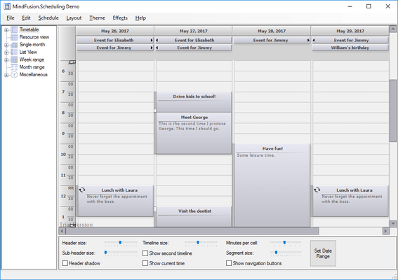 About MindFusion.Scheduling for WinForms
