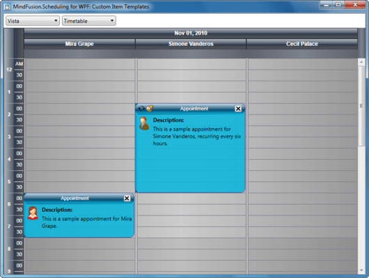 About MindFusion.Scheduling for WPF